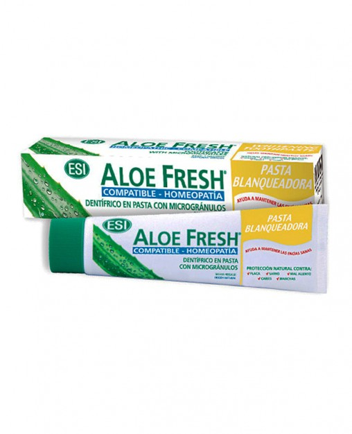 ALOE FRESH PASTA BLANQUEADORA 100 ml. Compatible con Homeopatía